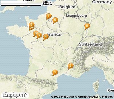 Castles In France Map Map Of France Castle Western Europe Europe