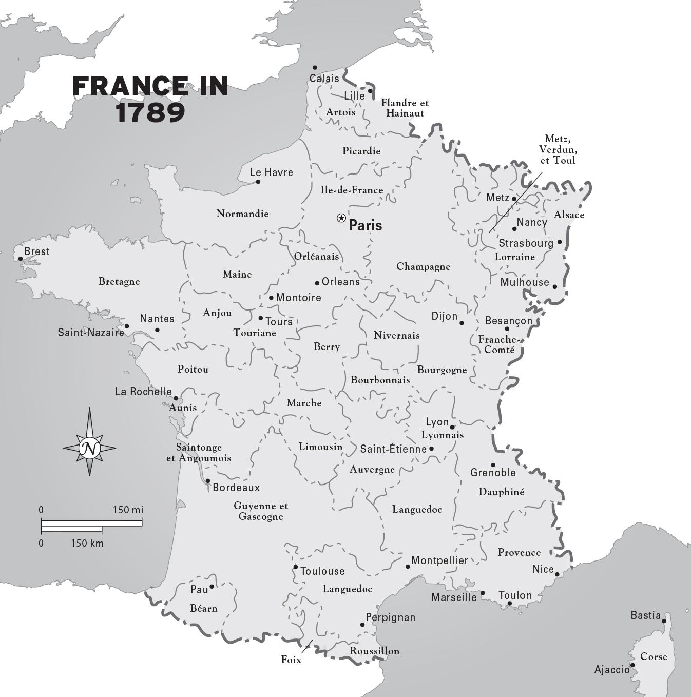 Map Of France In 1789.Map Of France In 1789 Map Of France During French Revolution