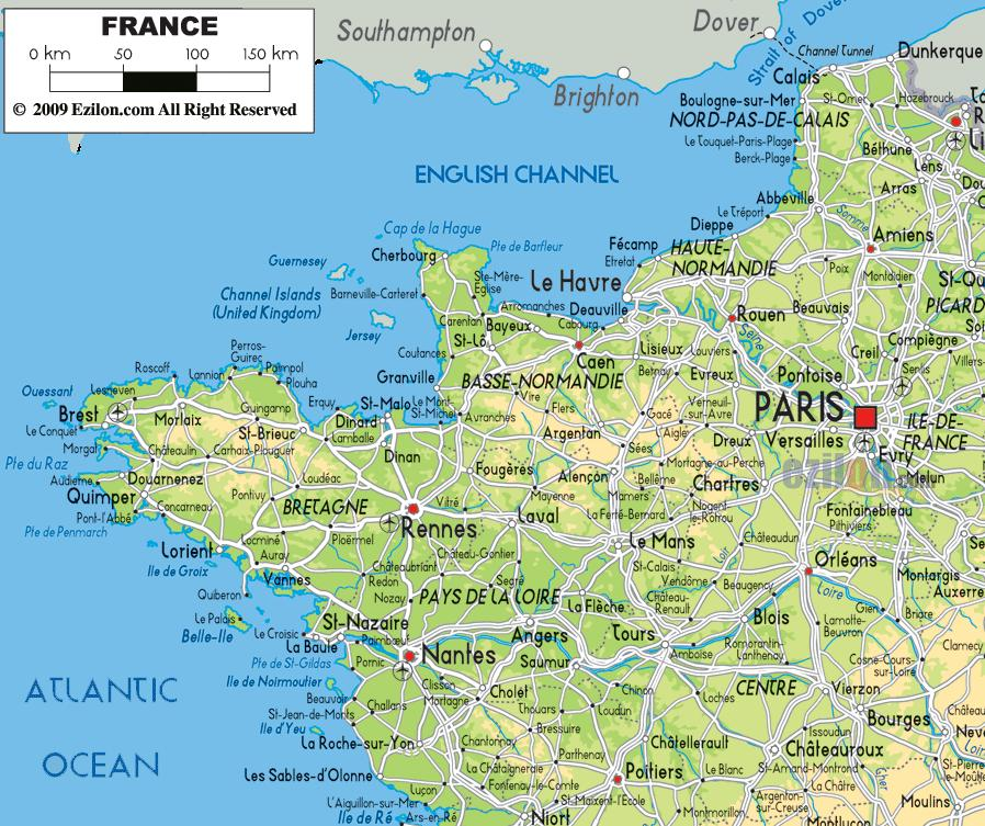 Map Of North France.Map Of Northern France Coast Map Of France Northern Coast Western