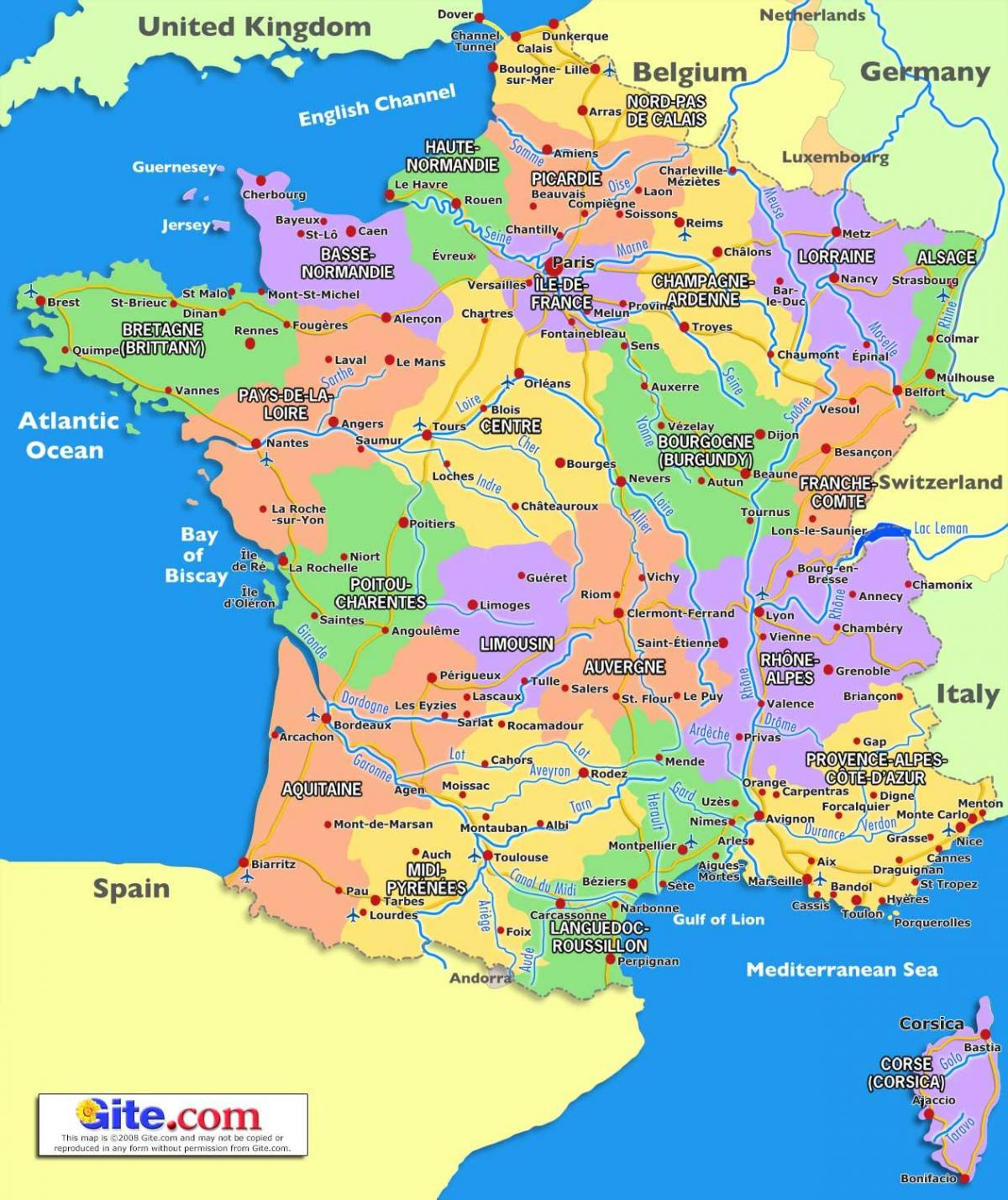 France in a map