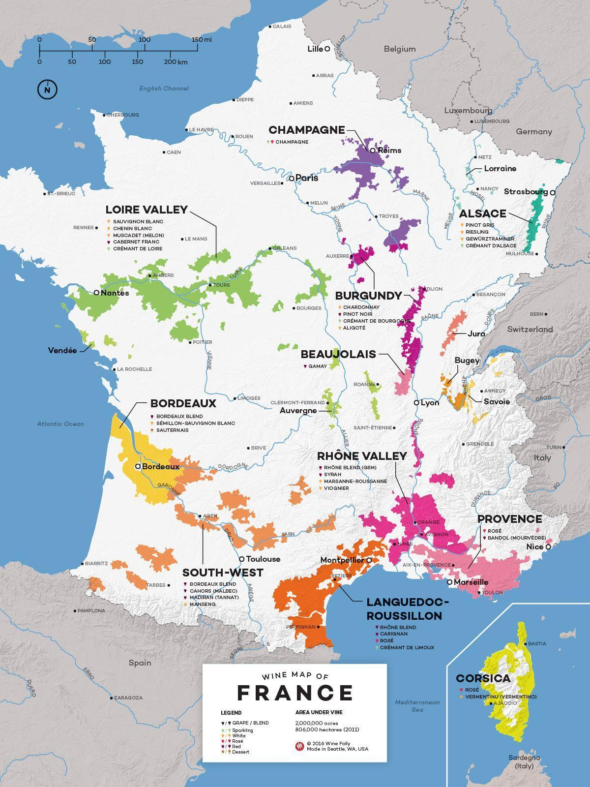 France wine country map