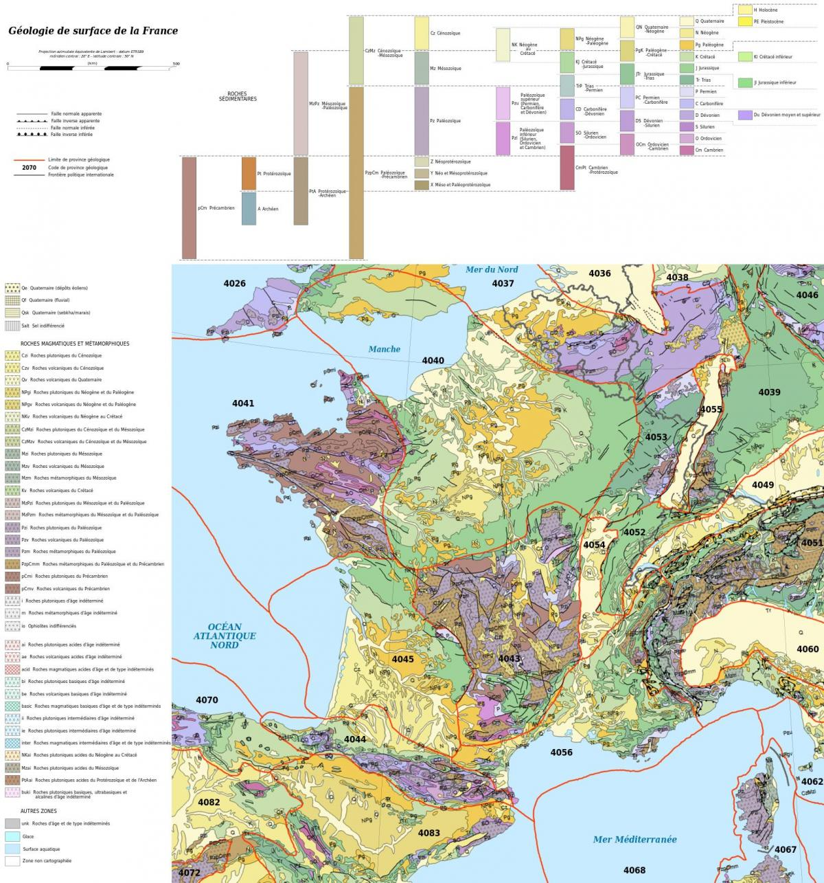 Geological Map Of France Map Of France Geological Western Europe