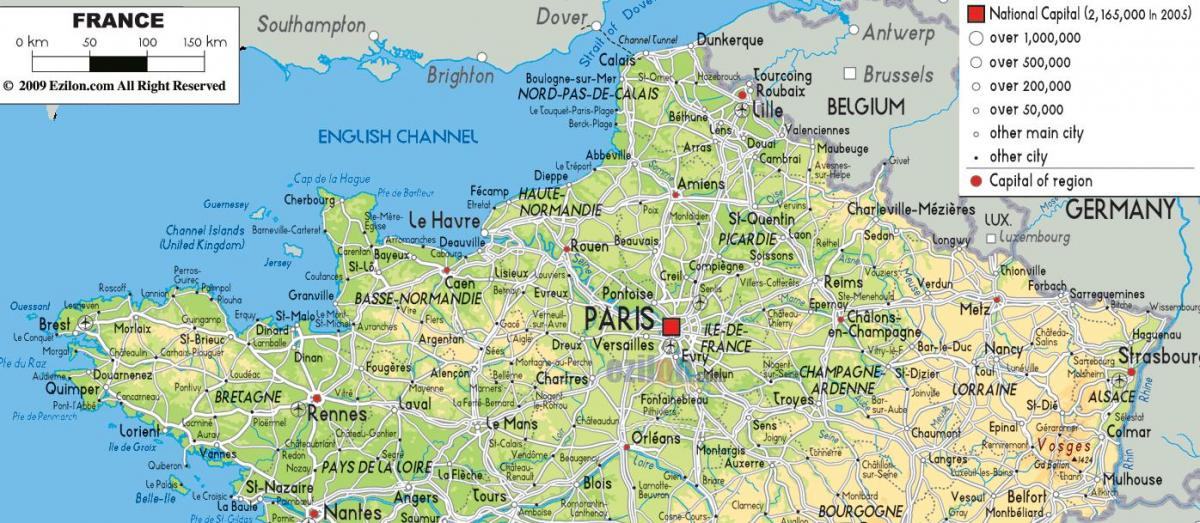 map of northern France with cities