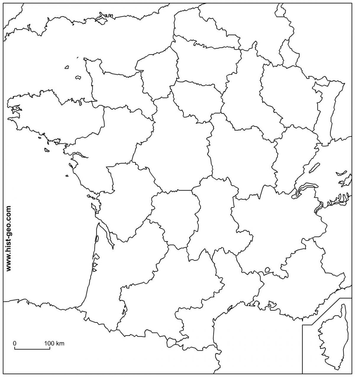 Physical Map Of France Outline Blank Physical Map Of France