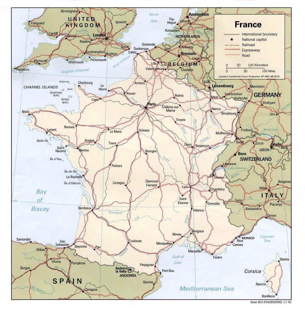 downloadable road map of France