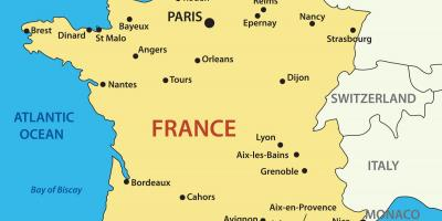 Map of France country