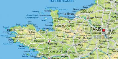 Map of France northern coast